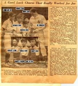 01-Joe DiMaggio with Chinatown team