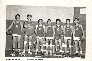 3-PIC FONE_caps- Clowns Basketball Team, 1951-1952 True  Light Champions